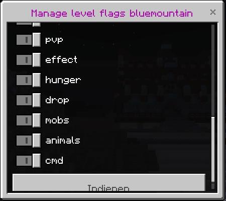 Edit level flags(defaults)